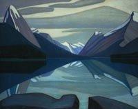 Lawren Harris,Maligne Lake, Jasper Park 1924