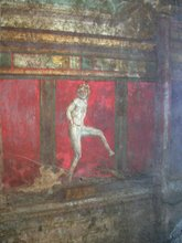 Fresco Figure from the Villa of Mysteries , Pompeii