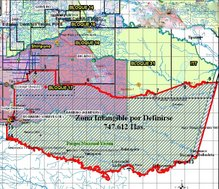 Mapa de la zona intangible