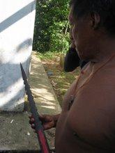 Babe con la lanza taromenane