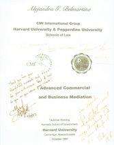 Dedicatoria Profesores Harvard