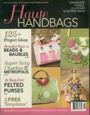 I made the purse in the upper right corner on this magazine cover.
