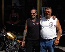 Indian Larry and me in Sturgis, South Dakota