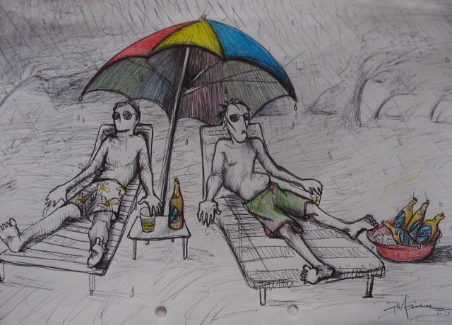 """en un picnic..""""tranqui, tranqui no pasa nada esta todo bien"""""""