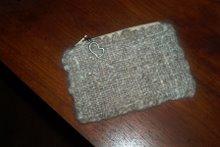 """Maggie the Beardie""""s hair coin purse!"""