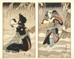 Kunisada, cena de Kabuki