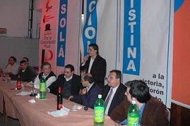 Cena de apoyo a la formula Cristina Fernandez/Julio Cobos.