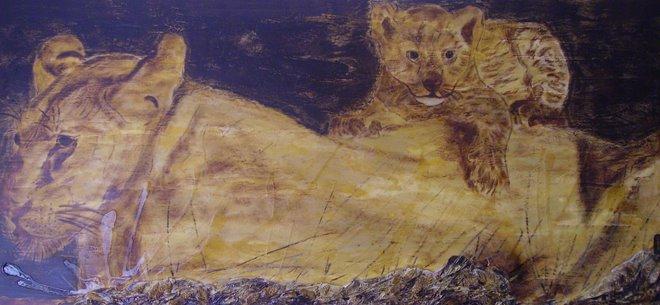 Leoa com cria - SOLD