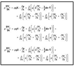 equações de Navier-Stokes