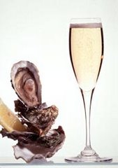 coquillages et champagne