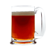 a pint of beer (= 0,568 l.)