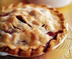 a rhubarb pie