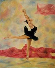 Pintura de Cecilia Rangel (Bailarina de negro)