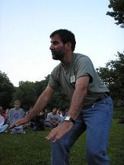 Al's hand-motion antics at opening campfire