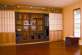 Berkeley Mills custom closet with shoji