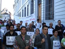 تظاهرات 21 آپریل 2007 در شهر بازل علیه جمهوری اسلامی ایران و علیه تهاجم نظامی آمریکا