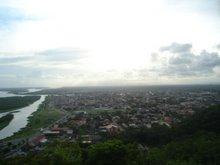 * Vista do Cristo de Iguape(litoral sul de SP), por Bia Pontes