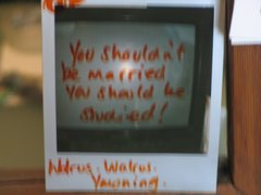 "F-ART Gallery. ""You shouldn't be married you should be studied"""