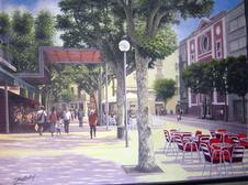 Plaça Santa Anna. Oli