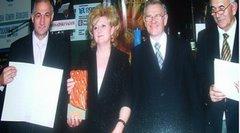 Dodela nagrada  na Novosadskom sajmu Poljoprivrede za Dizajn kataloga proizvodnog asortimana.