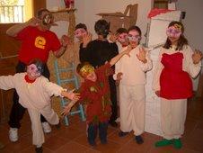 Grupo de teatro de la OJE de Barcelona