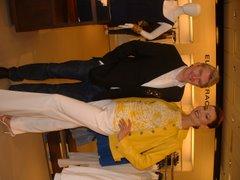 George Tracy & model Sky Palma