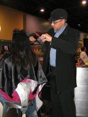 Hair dresser Steven Soto