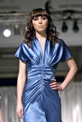 Model showcases Rene Ruiz's Spring '07 collection at the National MS Society's luncheon.