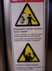 Washing Machine Warnings