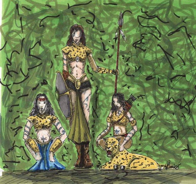essais de couleur sur les dames jaguars