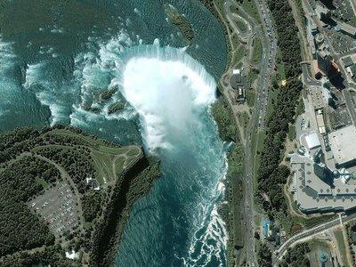 Las cataratas del Niágara desde el espacio