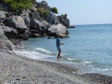Loutra kamenná pláž