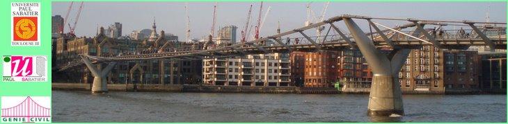 Le Millennium Bridge : notre marque repère !!!