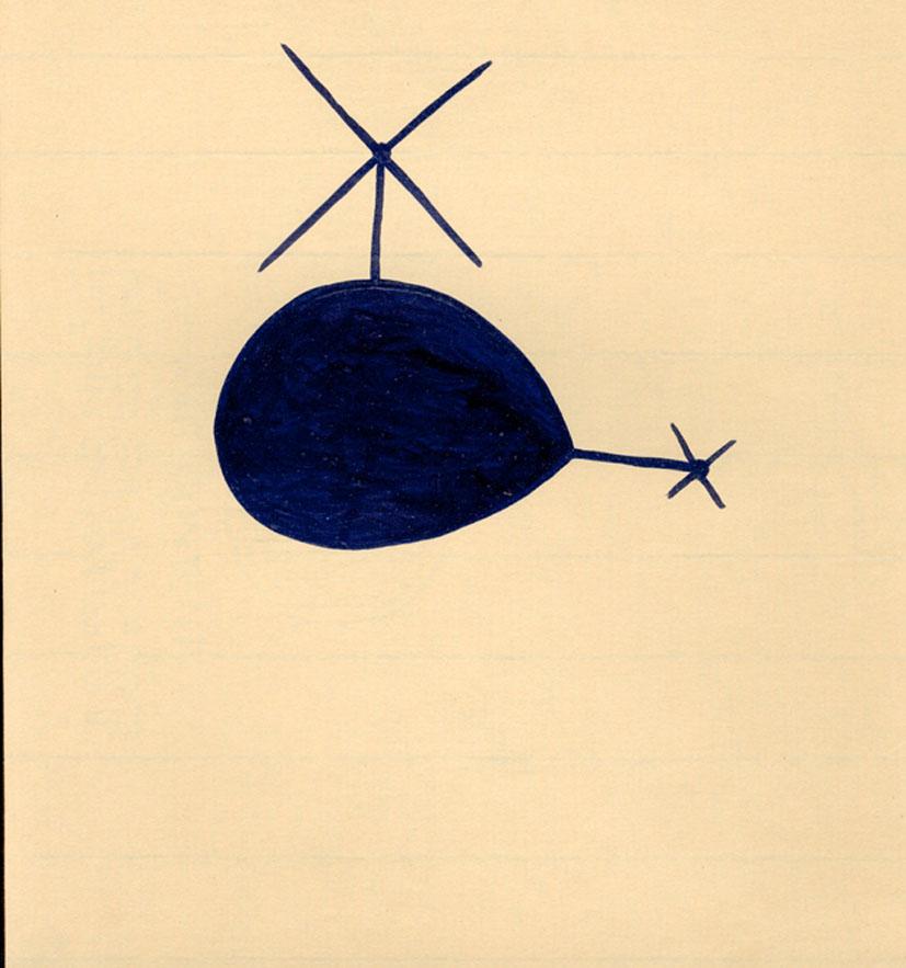 shantaram tumbada, flying story 1995 (detail), ink on paper, 23x21 cm