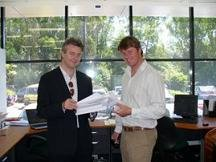 Brothers Craig and Wayne Brown at Erina Legal offices