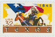 U.S.P.S.'s 1995 Texas Statehood Sesquicentennial Stamp