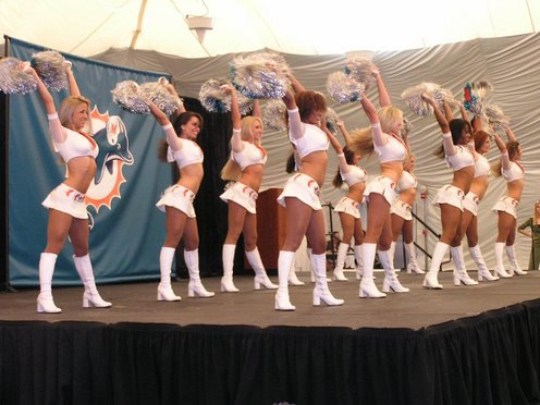 Miami Dolphins Cheerleaders, April 28, 2007 at Dolphins NFL Draft Party at Dolphin HQ, Davie, FL