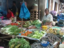 Lewoleba  A traditional market stall in Indonesia