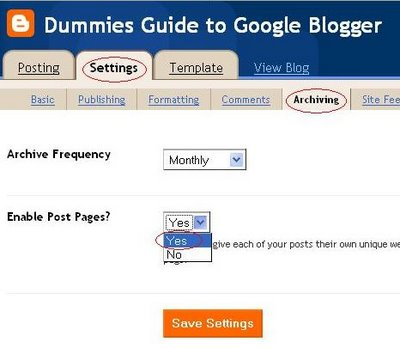 Google Blogger: Enable post page