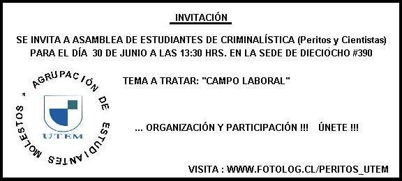 Invitación a Asamblea