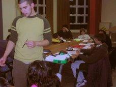 Sebastián Mercau (Dibujante), encargado, junto a Gonzalo Geller, del taller de historieta.