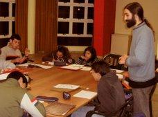 Gonzalo Geller (Dibujante y Guionista), encargado del Taller de Historieta