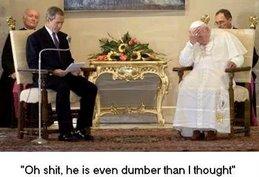 Bush w/Pope