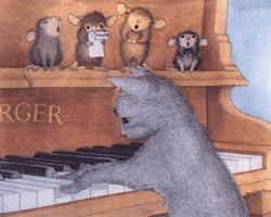 quand le chat est dans les alleluia, les souris braillent...