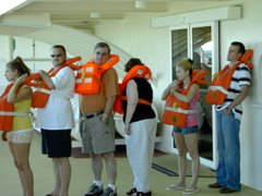 Life Jacket Drill on The Sovereign of the Seas