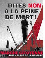 Marche contre la peine de mort le samedi 3 février
