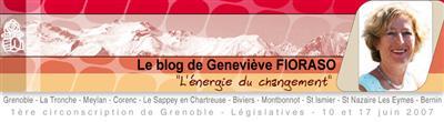 bandeau du blog de Geneviève Fioraso