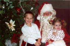 Hawk and Skyla with Santa