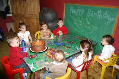 Colby at his birthday party