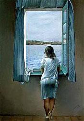 Salvador Dali - Muchacha en la ventana